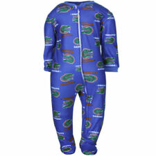 Florida Gators Infant Royal Blue Spirited Fleece Footed Sleeper - College