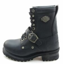 """Harley-Davidson Faded Glory 81003 Womens Black Leather 9"""" Logger Boots"""