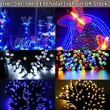 100-500 LED Solar Powered Garden Party Xmas Wedding String Fairy Lights Outdoor