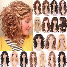 "Fabulous Cosplay Full Wig 23"" Long Curly Wavy Hair Heat Resistant Wigs Party ncx"