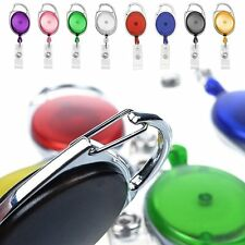 Simple Transparent Retractable Reel ID Badge Key Card Name Tag Holders Belt Clip