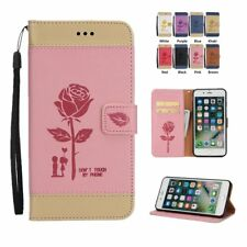 Romantic rose Stand Flip Leather Wallet Cover Case For iPhone 7 Plus 6 6S 5S SE