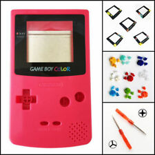 Nintendo Game Boy Color GBC Replacement Housing Shell Screen Berry Red BUTTONS!