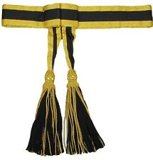 Sash Royal Army Chaplains Sash Waist Belt  Ceremonial Sash Gold Black  R1902