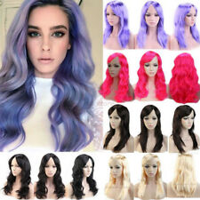 Anime Cosplay Full Wig Long Wavy Straight Halloween Party Stage Fancy Dress hpz