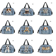 Womens Mens Travel Luggage Duffle Bag Gym Yoga Shoulder Handbag Pocket Animal