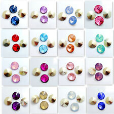 Wholesale hot  50PCS Resin Rhinestones Rivoli Loose Spacer Beads 14mm DIY
