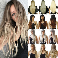 Full Head Wig Color Cosplay Wigs Heat Resistant Long Wavy Curly Fashion Color qa