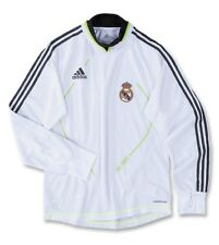 ADIDAS REAL MADRID LONG SLEEVE TRAINING TOP White/Slime.