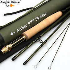 Fly Rod 3/4/5/8WT Fast Action Carbon Fiber Fly Fishing Rod & Spare Tip