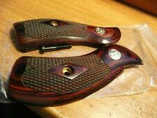 SMITH & WESSON GRIPS K FRAME ROUND BUTT ROSEWOOD W/ S&W MEDALLIONS CLASSIC STYLE