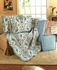 4 Pc Quilt Shams Tote Set Bedroom Decor Bedding Polyester Full Queen King Cover