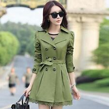 Trench Coat Women's Double Breasted Lace Outerwear ladies