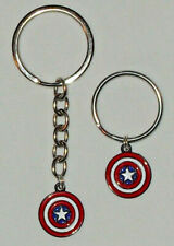 Captain America Charm Key chain or Stainless Steel Key ring Handcrafted