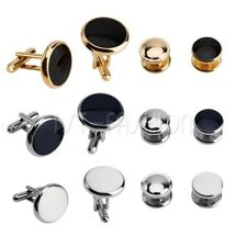 6Pcs Mens Fashion Classic Stainless Steel Tuxedo Shirts Cufflinks Cuff Studs Set