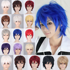 Unisex Short Straight Cosplay Wig Full Wig Real Fashion Synthetic Hair Ombre L5