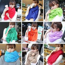 New Solid Women Girl Voile Scarf Wraps Shawl Stole Soft Large Beach Shawl Scarve
