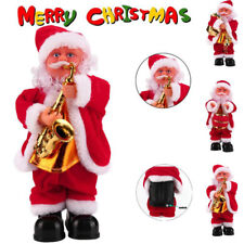 Santa Claus Baby Soft Plush Toy Singing Stuffed Animated Doll Christmas Gift