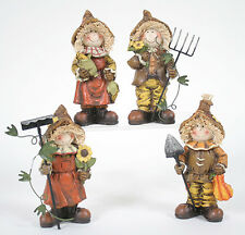 Harvest Girl & Boy Farmers Figurine (Your Choice) Thanksgiving Fall Decor