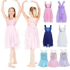 Princess Kids Girls Sequin Strap Ballet Tutu Dress Gymnastics Dance Wear Clothes