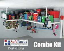 TWO SafeRacks Overhead Garage Storage Safe Racks Home Organization Over Head 4x8