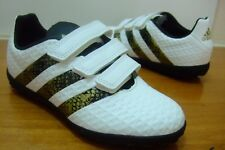 BOYS ADIDAS ACE 16.4 TF ASTRO TURF FOOTBALL TRAINERS SIZE 11 - 3 STRAP UP AQ6397