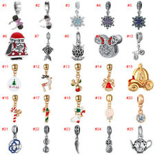 European Silver Charms Beads Pendant Fit 925 Sterling Bracelets Chain Christmas