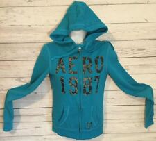 Aeropostale Zip Front Hooded Sweatshirt Juniors Size XS