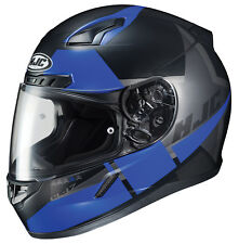 HJC Adult CL-17 Boost Semi-Flat Blue/Black Full Face Motorcycle Helmet Snell DOT