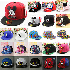 Boy Girls Kids Baby Baseball Cap Cartoon Adjustable Toddler Snapback Beanie Hat