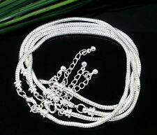 16-23cm Silver Snake Chain Lobster Clasp Bracelet Fit European Charm Beads Lot