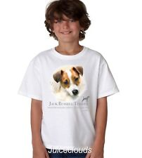 Jack Russel Terrier Kids T-Shirt Puppy Pet Rescue Dog Owner YOUTH Tee