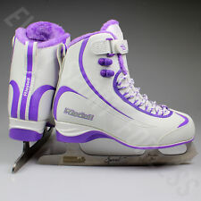 Riedell 625 Soar Softboot Womens Figure Skates - White / Purple (NEW)