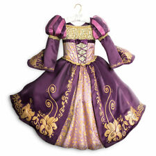 Disney Store Rapunzel Tangled Deluxe Dress Up Gown Costume RETIRED Girls 9/10