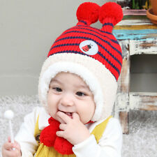 HOT Baby Infant Bee Warm Tab Crochet Knit Wool Hat Beanie Cap Winter