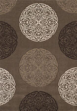 Gray Contemporary Carpet All-Over Circle Orb Ball Olefin Turkish Area Rug