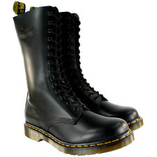 Mens Dr Martens 1914 Leather Black Lace Up Vintage Mid Calf Boots UK Sizes 7-12