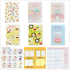 JAPAN SANRIO KITTY MELODY GUDETAMA POMPOMPURIN 2018 DIARY 9X13CM SCHEDULE BOOK