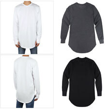 Mens Thumb Hole Cuffs Long Sleeve Cotton Muscle Casual Loose T-shirt Basic Tee
