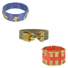 NEW Tory Burch Limited Edition Leather Gold Charm Bracelet Cuff