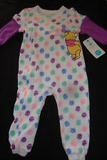 """DISNEY  WINNIE THE POOH FOOTED ROMPER NWTS """"BEE-UTIFUL BUTTERFLY"""" 18 month"""