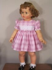 """ADORABLE SOFT PINK PLAID DRESS & PANTIES FOR 32"""" PENNY PLAYPAL DOLL CLOTHES"""