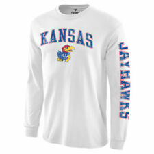 Kansas Jayhawks White Distressed Arch Over Logo Long Sleeve Hit T-Shirt