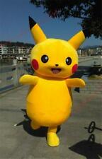 Pokemon Go Pikachu Mascot Costume Cosplay Game Dress Adult outfit crazy sale New