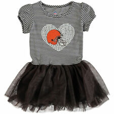 Cleveland Browns Girls Toddler Brown/White Celebration Tutu Sequins Dress - NFL