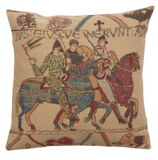 Bayeux Mont St. Michel II Belgian Tapestry Decorative  Cushion Cover