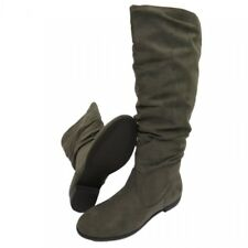 CLAUDIA GHIZZANI - Ladies Grey Gray Slouch Pull-On Knee-high Boots - Brand New
