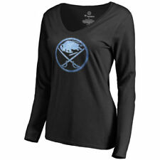 Buffalo Sabres Women's Black Pond Hockey Slim Fit Long Sleeve T-Shirt - NHL