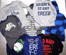 Lot of 11 Boys Long Sleeve Shirts, Jeans, Track Pants, Size 7/8 Medium Old Navy