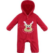 Baby Toddler Girls Christmas Clothes Romper One Piece Jumpsuit Bodysuit Outfits